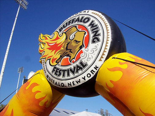 wing fest sign