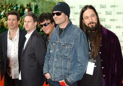 Tragically.Hip[1]. Members of the Canadian Music Hall of Fame,