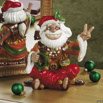 Santa peace sign porcelain