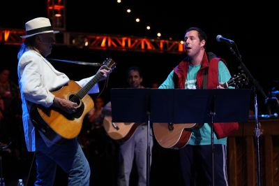 Adam Sandler and Neil Young