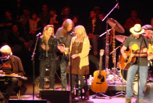 Sheryl Crow with Neil and Pegi Young
