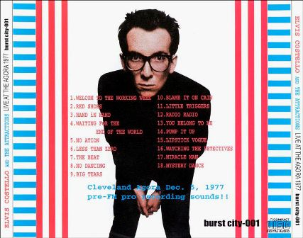 Elvis Costello Agora 77 back cover
